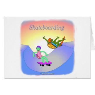 Coole skateboarding Geschenke für Kinder Karte