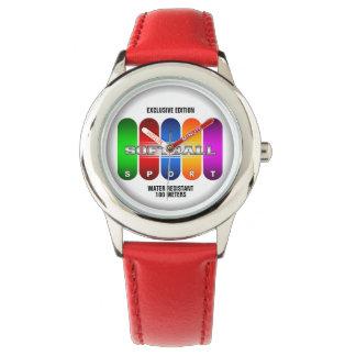 Coole Softball-Sport-Uhr (mehrfache Modelle) Uhr