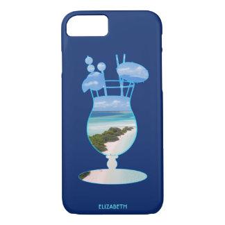 Coole Sommer-Insel-Ozean-Strand-Palmen und Sand iPhone 7 Hülle