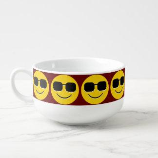 Coole Sonnenbrillen Emoji Große Suppentasse