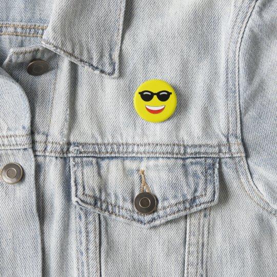 Coole Sonnenbrillen Emoji Runder Button 3,2 Cm
