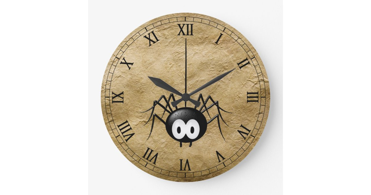 Coole Spinnen Uhr Große Wanduhr