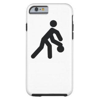 Coole Sportikone des BASKETBALLS   Tough iPhone 6 Hülle