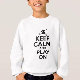 Coole Sportvektorentwürfe Sweatshirt