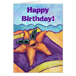 Coole Starfish-alles- Gute zum Geburtstagkarte Karte