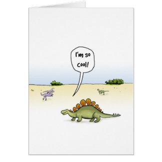 Coole Stegosaurus-Geburtstags-Karte Karte