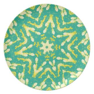 Coole sternförmige Colorfull Pop-gefärbte Krawatte Flache Teller