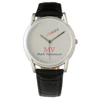 coole stilvolle Mannuhr der aero Art mit seinem Armbanduhr