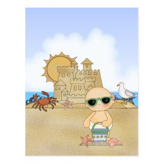Coole Strand-Baby ~ neutrale Person Postkarte