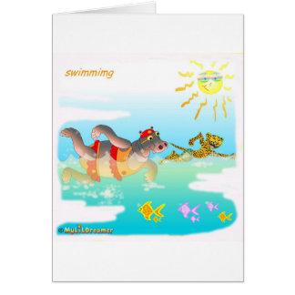Coole swiiming Geschenke für Kinder Karte