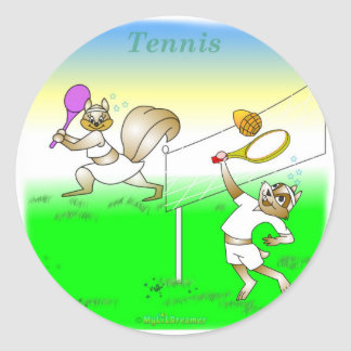 Coole Tennisgeschenke für Kinder Runder Aufkleber