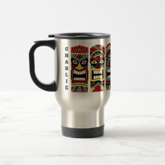 Coole Tiki Totem-Name-Tassen Reisebecher