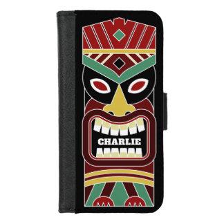 Coole Tiki Totem-Name-Telefongeldbörsen iPhone 8/7 Geldbeutel-Hülle
