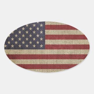 Coole trendy Amerika-Flagge Ovale Aufkleber