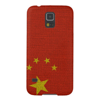 Coole trendy Chinaflaggenleinwand Galaxy S5 Hülle