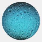 Coole Tropfen des blauen Wassers Runder Aufkleber