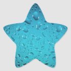 Coole Tropfen des blauen Wassers Stern-Aufkleber