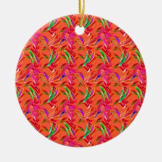 Coole und elegante abstrakte rosa orange Fuchsie Keramik Ornament