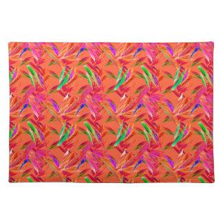 Coole und elegante abstrakte rosa orange Fuchsie Stofftischset