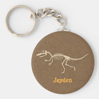 Coole Velociraptor-Dinosaurier-Knochen für Jungen Schlüsselanhänger