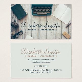 Coole Vintage Schreibmaschine des Verfasserautors Visitenkarte