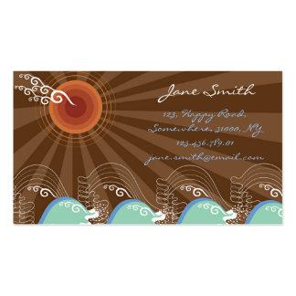 Coole Wellen-tropischer Sommer Sun Brown Stripes