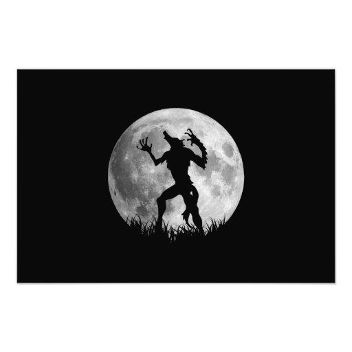 Coole Werewolf-Vollmond-Umwandlung Photo Drucke