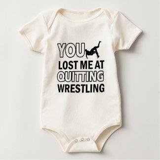Coole Wrestlingentwürfe Baby Strampler
