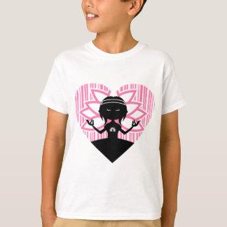 Coole Yoga-Mädchen-Silhouette T-Shirt