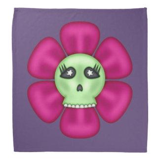 Coole Zombie-Schädel-Blume Halstuch