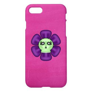 Coole Zombie-Schädel-Blume iPhone 8/7 Hülle