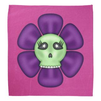 Coole Zombie-Schädel-Blume Kopftuch