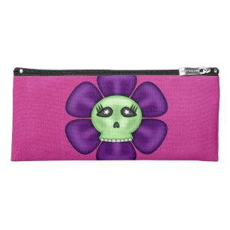 Coole Zombie-Schädel-Blume Stiftetasche