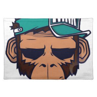 Cooler Affe mit einer Zigarette Tischset