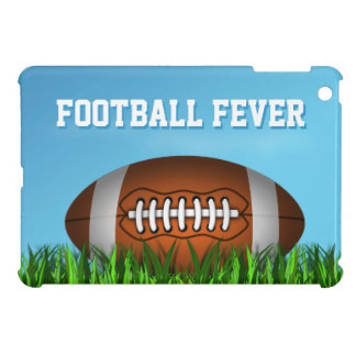 Cooler Amerikaner Footy im Gras-Fußball-Fieber iPad Mini Hülle
