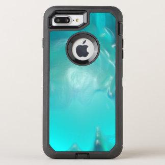 Cooler aquamariner blauer flüssiger Plastikentwurf OtterBox Defender iPhone 8 Plus/7 Plus Hülle