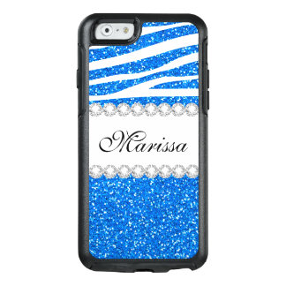 Cooler Baby-Blues-Glitterweißes OtterBox iPhone 6/6s Hülle