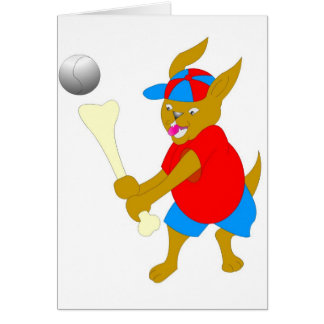 Cooler Baseball scherzt Einzelteile Grußkarten