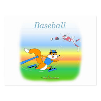 Cooler Baseball scherzt Einzelteile Postkarte