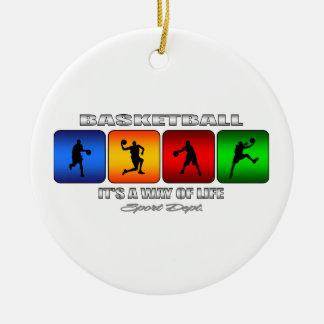Cooler Basketball ist es eine Lebensart Rundes Keramik Ornament