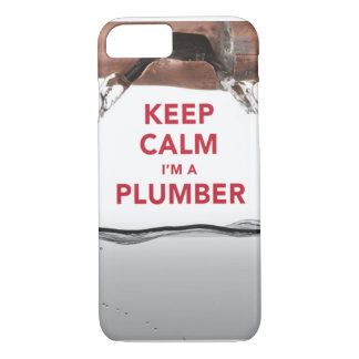 """Cooler """"behalten Sie Ruhe, die ich ein Klempner"""" iPhone 8/7 Hülle"""
