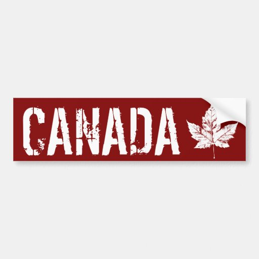 Cooler beunruhigtes Ahorn-Blatt Kanadas Autoaufkle Auto Sticker
