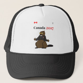 Cooler Biber Kanadas 150 im Jahre 2017 Truckerkappe