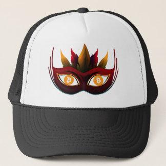 Cooler Bitcoin Augen Karnevals-Masken-Entwurf Truckerkappe