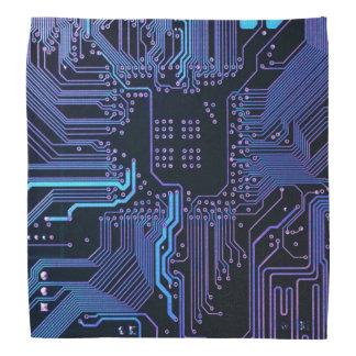 Cooler blauer Computer-LeiterplatteBandana Halstuch