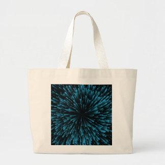 Cooler blauer Explosions-Entwurf Jumbo Stoffbeutel