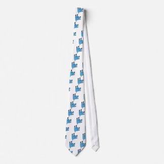 Cooler blauer Origami Hund Individuelle Krawatten