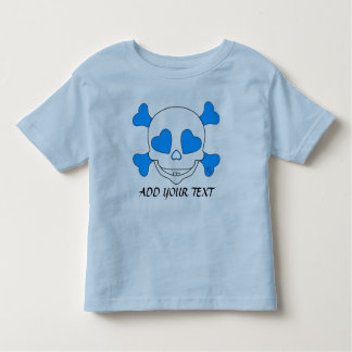 Cooler blaues Baby-Schädel-Junge T-Shirts