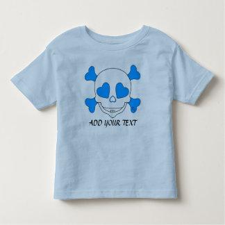 Cooler blaues Baby-Schädel-Junge T Shirts