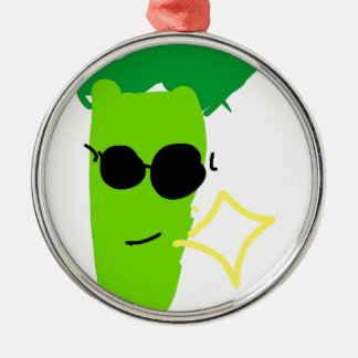 Cooler Brokkoli Silbernes Ornament